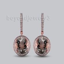 LANMI, женские фантастические винтажные однотонные серьги 14 к из розового золота с драгоценными камнями, серьги с аметистом, Модные женские вечерние ювелирные изделия