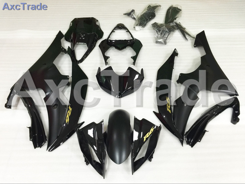 Motorcycle Fairings Kits For Yamaha YZF600 YZF 600  R6 YZF-R6 2008-2014 08 - 14 ABS Injection Fairing Bodywork Kit Black A892 injection molding bodywork fairings set for yamaha r6 2008 2014 blue white black full fairing kit yzf r6 08 09 14 zb77