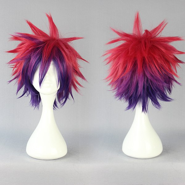 MCOSER Free Shipping New Cartoon 30cm multi-color Long No Game No Life Sora Synthetic Wig Anime Cosplay Costume Wig