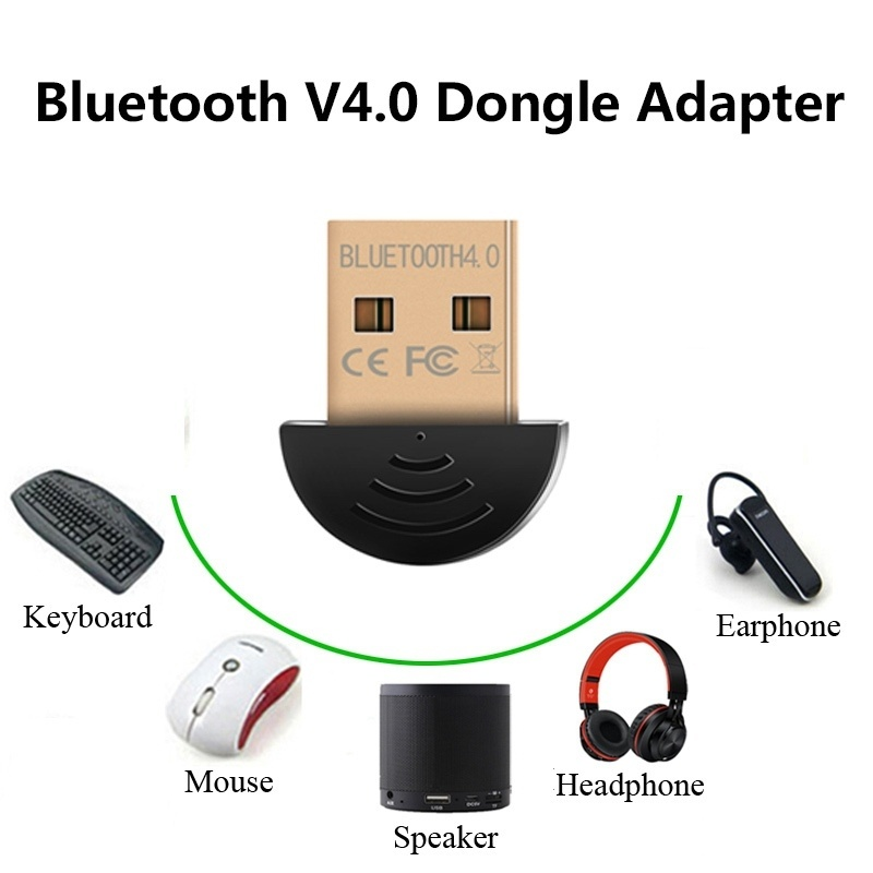 Mini USB Wireless Bluetooth Dongle Adapter for Laptop PC Win Xp Win7 8 10 Mouse
