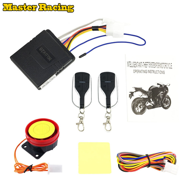 Motorcycle Scooter Anti Theft Security Alarm System Remote