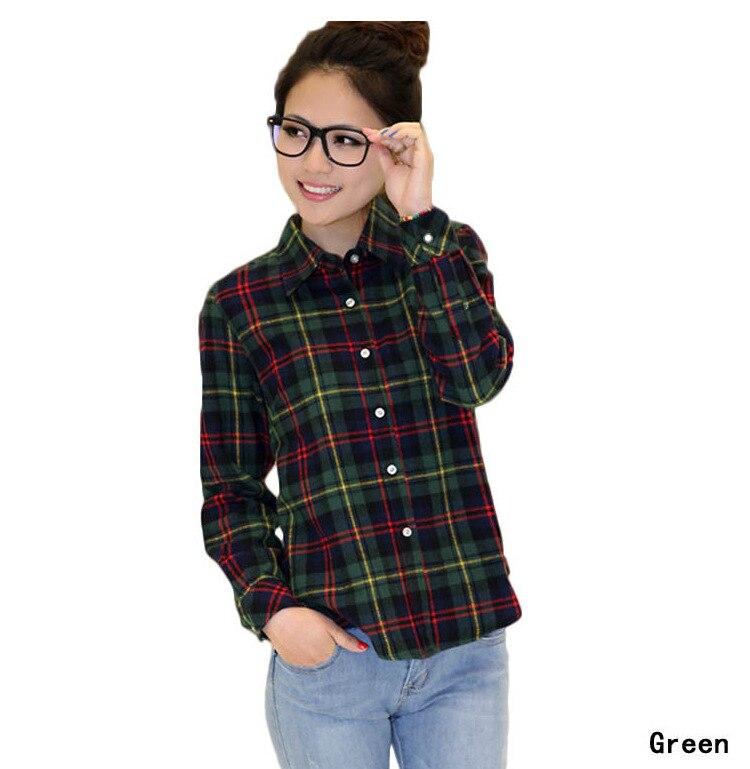 Plaid Shirts Cotton Flannel Casual