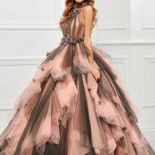 Винтаж розовый и черный два тона 1950 s цвет ful свадебное платье es с оборками Тюль бальное свадебное платье в готическом стиле