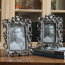European-style retro 6 inch 7 metal texture carved picture frame handicraft home decoration