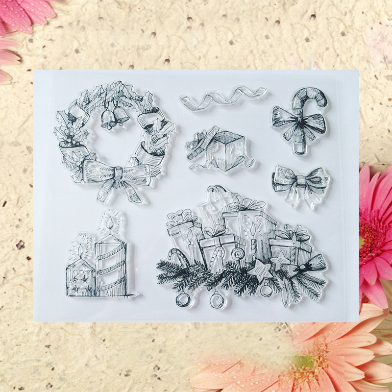 2016 new Scrapbook DIY Photo Album Account Transparent Silicone Rubber Clear Stamps Christmas gift