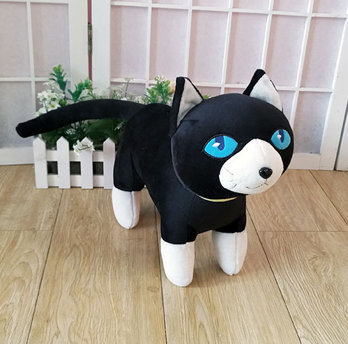 Persona 5 The Animation Plush Toy Black Cat Morgana Mona Anime Figure Cosplay Plush Doll 35cm High Quality Pillow Free Shipping