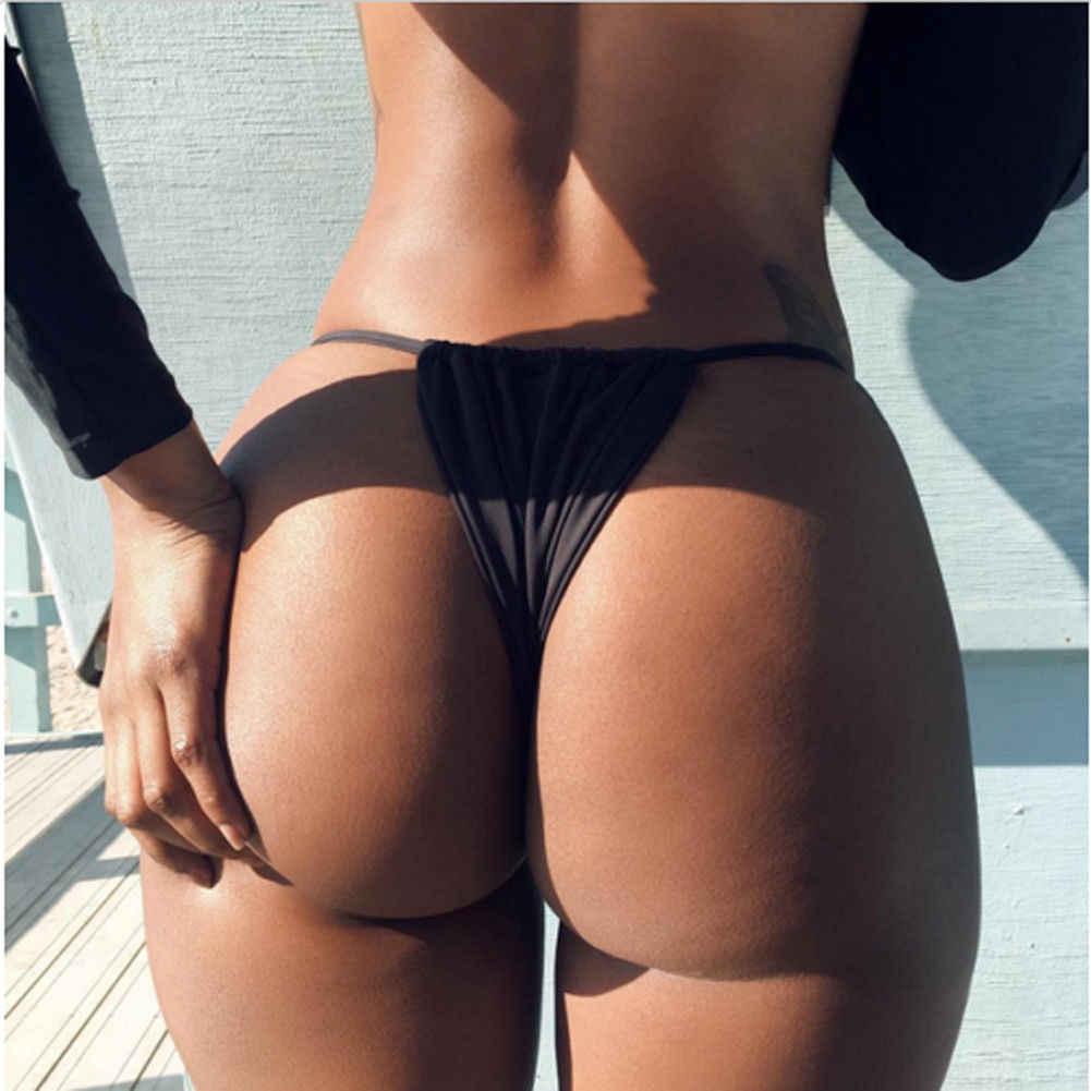 נשים ברזילאי חוטיני סקסי ביקיני תחתון בגדי ים בגד ים וחוף G מחרוזת ברזילאי חצוף ביקיני תחתון צד עניבת חוטיני