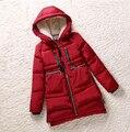 Novo 2016 Mulheres de Inverno Jaqueta Wadded Feminino Vermelho Outerwear Plus Size 5XL Espessamento Casuais Para Baixo de Algodão Amassado Revestimento Das Mulheres Parkas