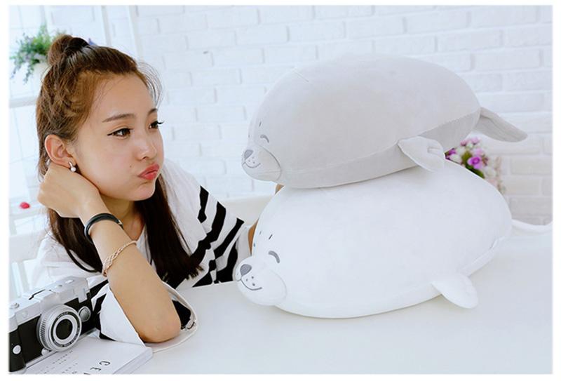 1pcs Cute Soft Animal Sea Lion Doll Baby Sleeping Pillow Marine Animals Seal Plush Toy Kids Stuffed Toys Gift (7)