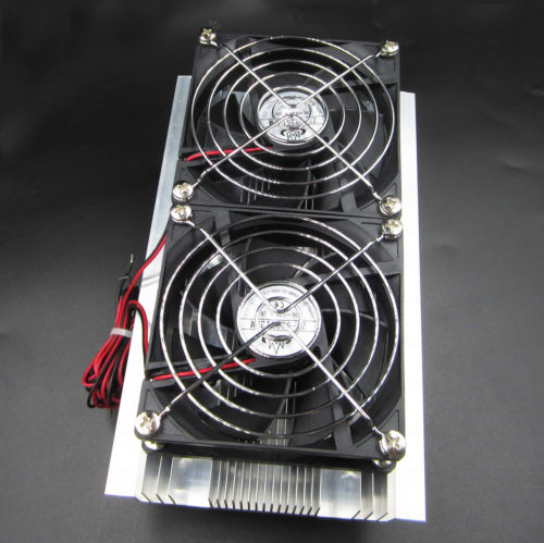 DIY Kit Thermoelectric Peltier Refrigeration Double Cooling System Cooler Fan
