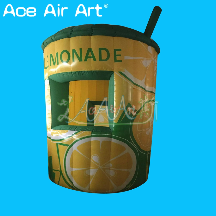Deft design inflatable lemonade sale stand booth,food shop,concession lemon DRINK stall kiosk for promotion
