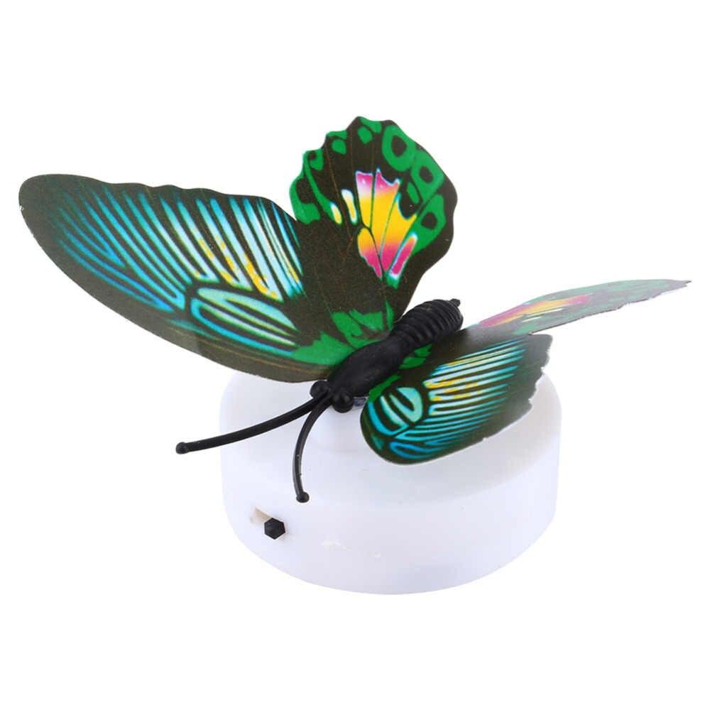 אווירת מנורת שולחן LED לילה האור מהבהב החלף פרפר מאור אהיל תא לחץ DC 12 V אור פנימי כרית יניקה