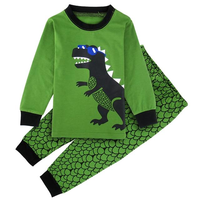 Child Boys Girls Pajama Set Kids Animals Print Pijamas Toddler Boy Dinosaur  Shark Pyjamas Sets Kid 96fc1cf61