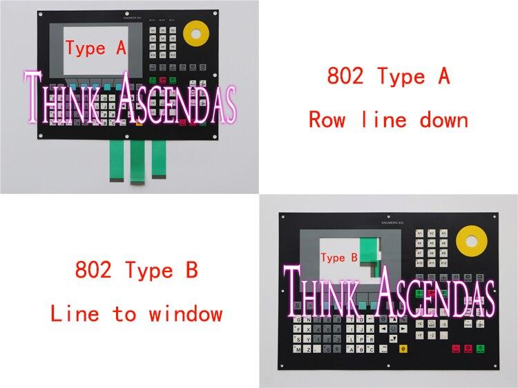 1pcs New 802 802C 6FC5500-0AA11-1AA0 6FC5 500-0AA11-1AA0 / 6FC5500-0AA11-2AA0 6FC5 500-0AA11-2AA0 Membrane Keypad TypeA TypeB 1 0