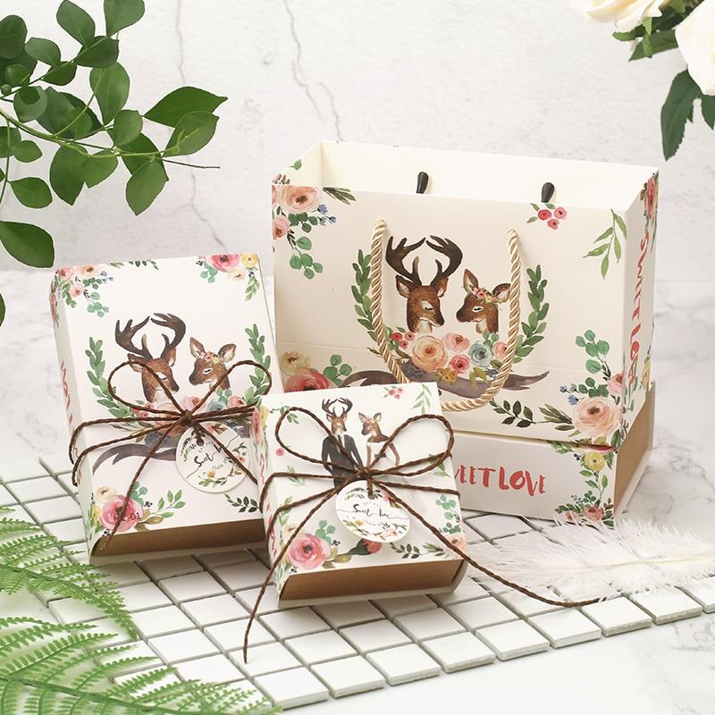 50 PCS/LOT Mini boîte de bonbons de mariage dessin animé mignon, haute qualité petit cadeau de mariage boîte de papier sac boîte d'emballage de bonbons au chocolat