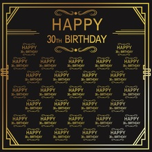 Laeacco Happy 30th Birthday Party Poster Photography Backgrounds Customized Photographic Backdrop For Photo Studio