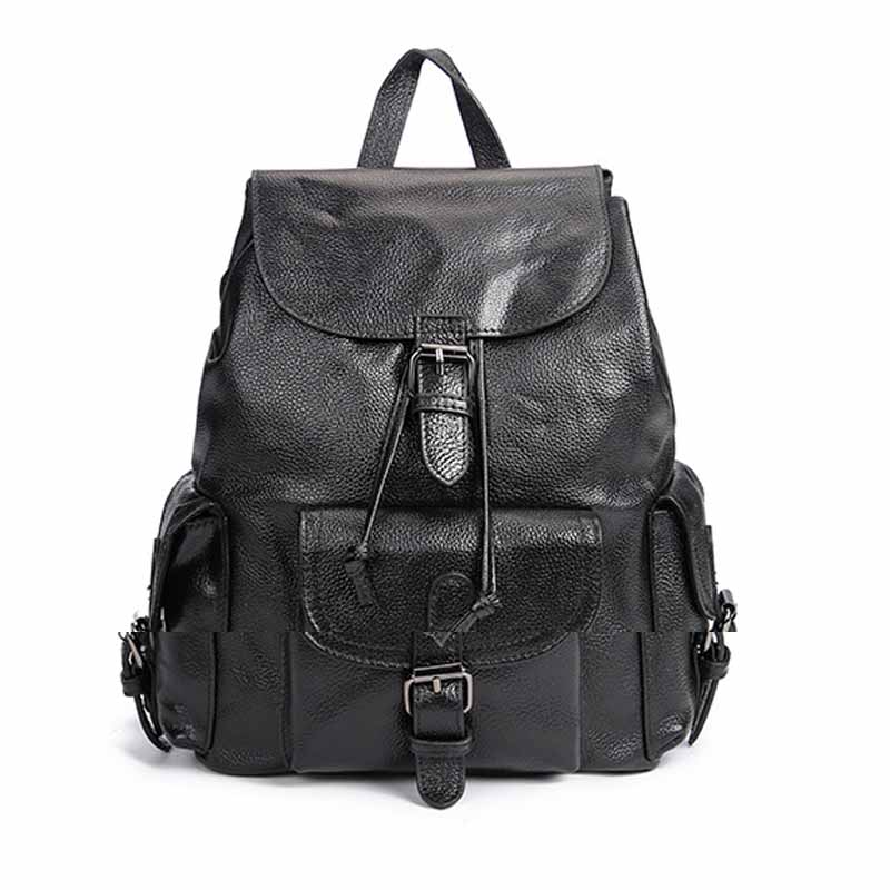 Neweekend New Backpack Women 2018 Fashion Casual Real Genuine Leather Backpack Large Capacity School Bags For Teenager BF5022 grizzly 2017 new fashion men backpack waterproof large capacity school bags for teenager boys casual mochila travel bag