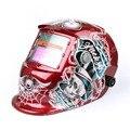 Красный череп про солнечная автоматическая затмевая шлем ADWH тиг аппараты объектив дуги Mig Tig шлифовальные функция сварщик маска Cap се