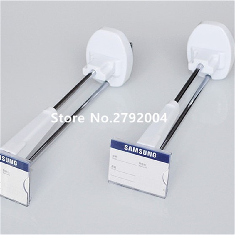 (50 Pcs/pack ) White Color 250mm Length Slat Wall Magnetic Lockpick Security Display Hook