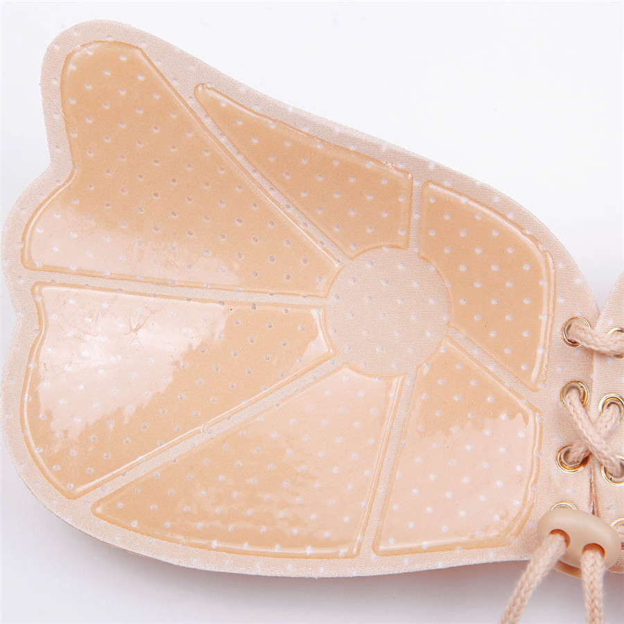#5505 Women Wings Of The Goddess Instant Breast Lift Invisible Silicone pull the straps with milk stickers Push Up Bra 7