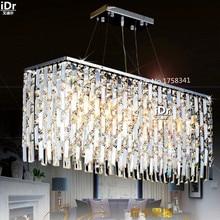 Япония Стиль прямоугольная гостиная лампы освещения кристалл лампы k9 LED атмосферное ресторан потолочные светильники бесплатная доставка