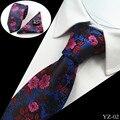 2016 Hombres Lazo Floral 100% Seda Jacquard Tejida Corbata Gravata corbatas Hanky Gemelos Tie Set for Men Formal Del Banquete de Boda