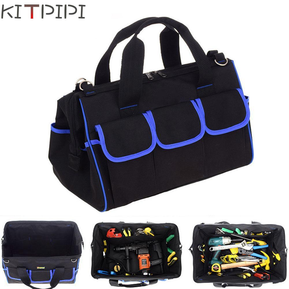 KITPIPI New Multifunction Tool Bag Large Capacity Thicken Professional Repair Tools Bag 16 inch Messenger Toolkit Bag ZJI5919 hoomall large capacity tool bag multifunction oxford professional electrician shoulder toolkit waterproof wearable tools bag new
