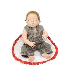 Fashion Boy Doll Reborn Full Body Silicone Vinyl 55CM /22Inch Realistic Sleeping Newborn Babies Kids Birthday Christmas Gift