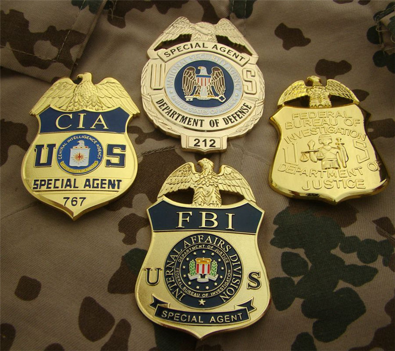 United States FBI Metal Badge Police Special Agent Officer Badges Police Detective Shirt Lapel Badge Brooch Pin Insignia Cosplay
