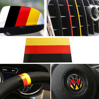 5set Car Styling Stickers 10 Germany Flag Color Stripe Decals For Euro Car Exterior Or