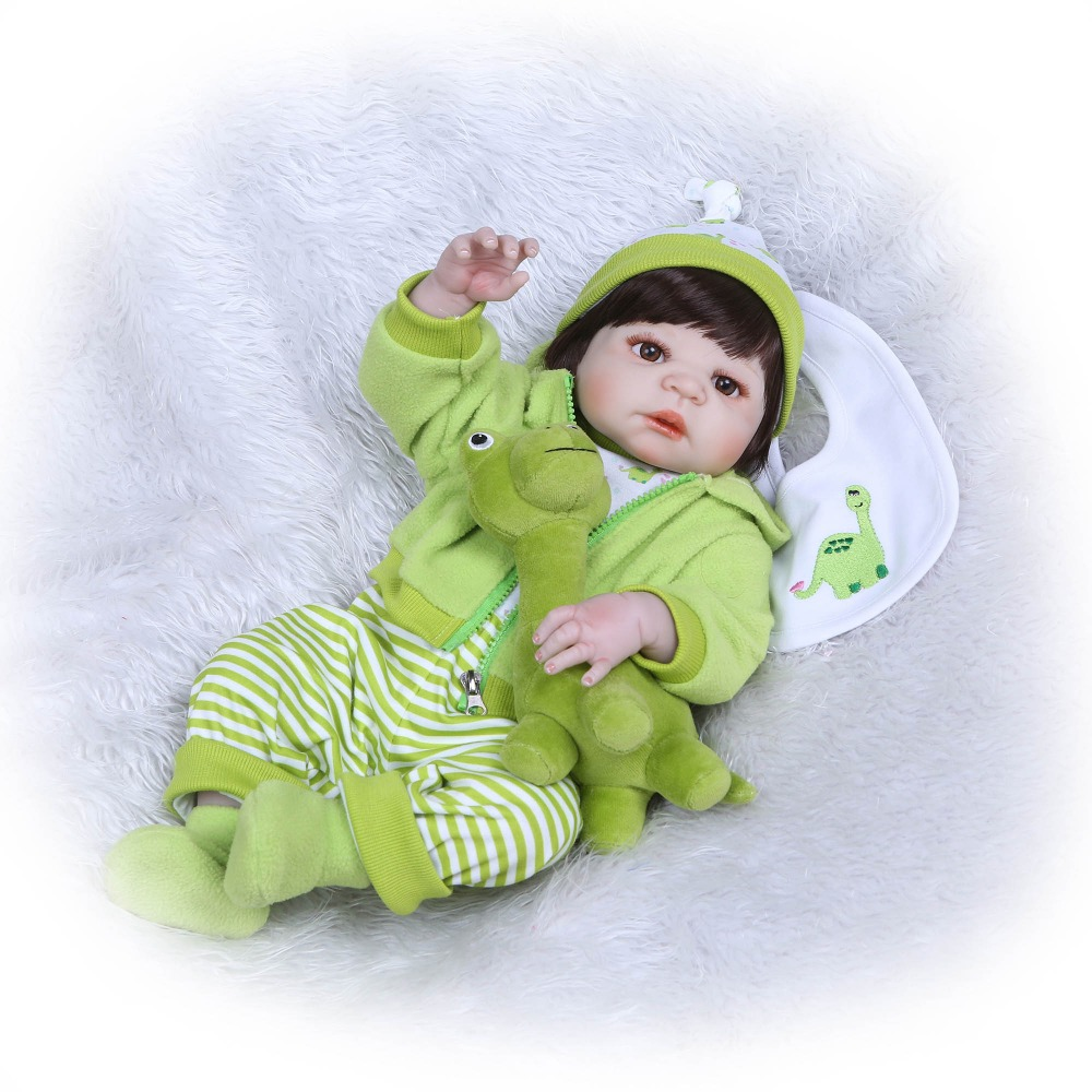 NPK 55cm Full Body Silicone Reborn Girl Baby Doll Toys Lifelike Baby Reborn Dolls child brithday Gift Bebe Alive Reborn Bonecas 22 reborn dolls toys half soft silicone body reborn baby cotton body with pacifier bear doll newborn baby bonecas child gift