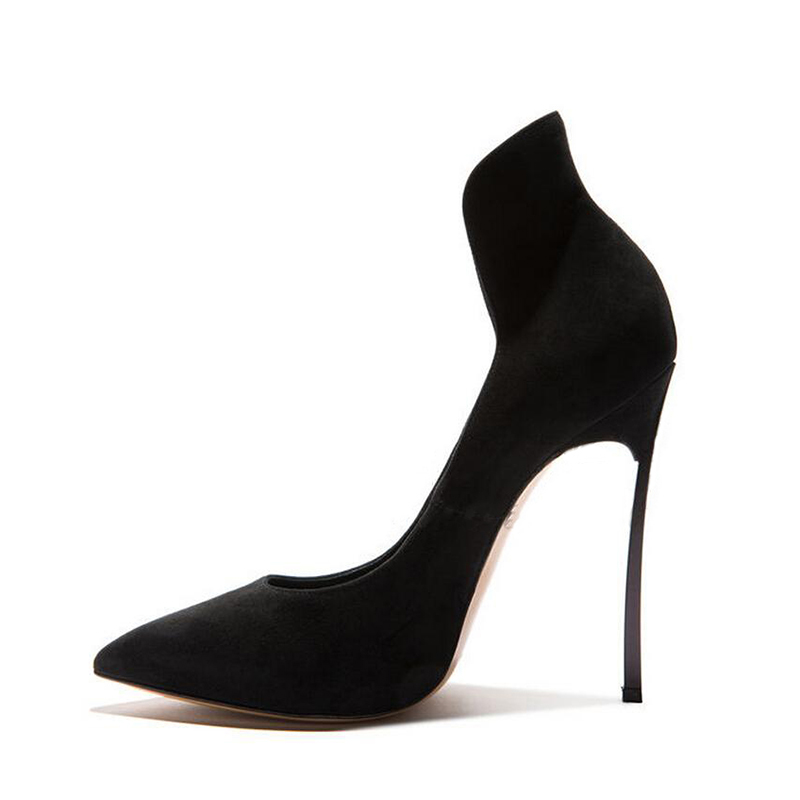 Métal Bout Date Pompes Chaussures Hauts Pointu Talons As Printemps En Profonde Femmes Pictures Bureau Sexy Noir Peu Mode À xwPYqYz