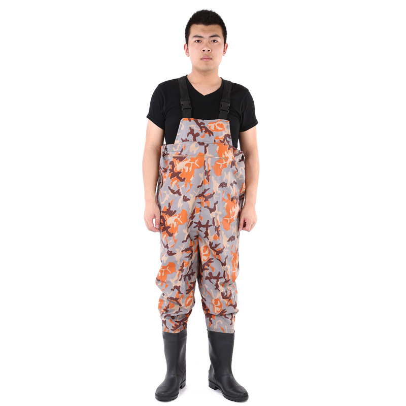 Hot sale camouflage breathable waterproof fishing pants for Fishing waders on sale