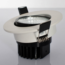 Free Shipping High Quality Dimmable 10W Led Fixture Downlight Warm White/Cold White COB Led Down Light Recessed Lamp 100-240V free shipping dimmable 10w cob led ceiling light 110v 220v warm white cold white recessed led lamp down light for home lighting