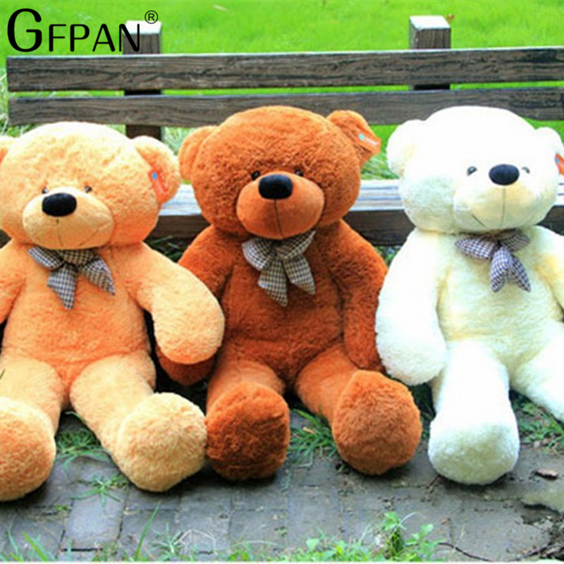 1pcs 80/100cm Four Colors Big Teddy Bear skin Coat Plush Toys Stuffed Toy Baby Toy Birthday Gifts Christmas Gifts For Kids