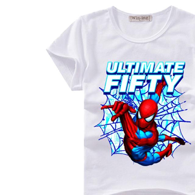 Boys Spiderman Print Cotton Suit