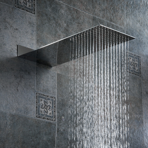 Image 5 - BAKALA Square Stainless Steel Showerhead Rainfall Shower Head Rain Shower Chrome high pressure chuveiro bath faucet Free freight