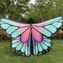 Женский костюм с крыльями бабочки для танцев, для девочек, для танца живота, с разрезом крыльев, костюм монарха, праздничная одежда для взрослых и детей, 2 размера