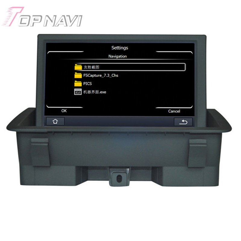 8 pulgadas Wince Radio Estereofonia Del Coche Para Audi Q3 (2011.06-) 8 pulgadas de Tamaño de Pantalla Car Electronics Car PC de la Tableta de Navegación GPS Reproductor de Vídeo