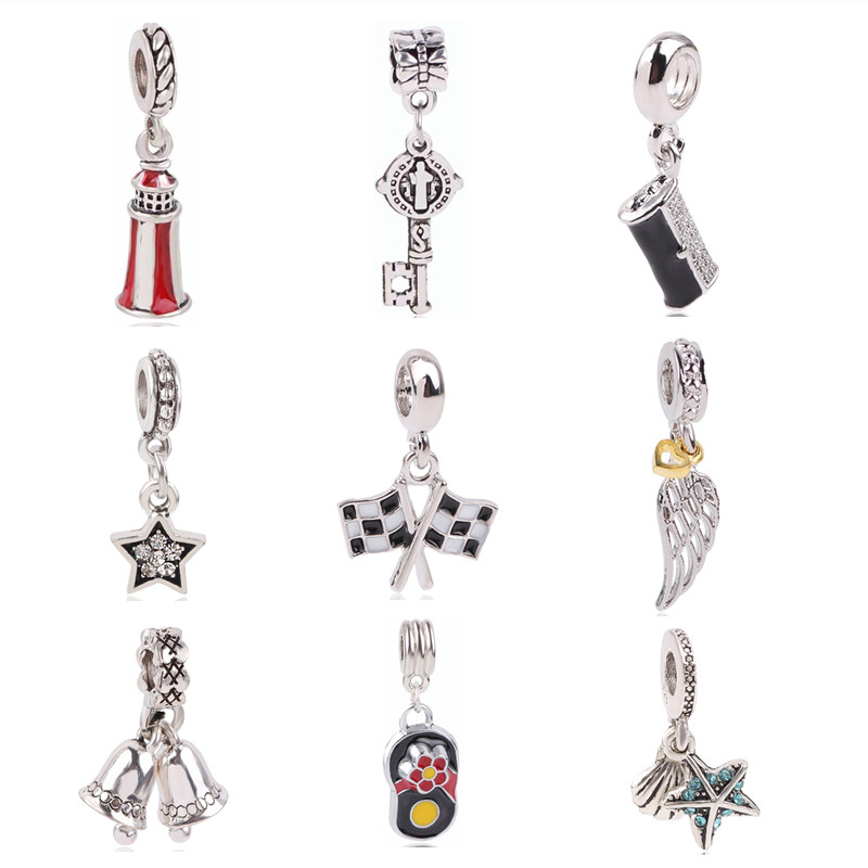 Efficient Aifeili Silver Color Blue Christmas Winter Snowflake Elk Sled Beads For Original Pandora Charm Bracelet Diy Jewelry Famous For High Quality Raw Materials, Full Range Of Specifications And Sizes, And Great Variety Of Designs And Colors