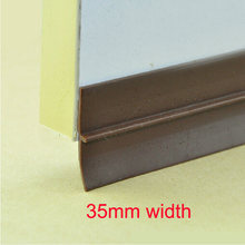 35mm width window door bottom silicone rubber sealing strip 3M adhesive weather stripping