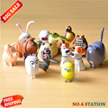 Cute 14pcs/lot The Secret Life of Pets Snowball Gidget Mel Max Duke Dogs Cats Rabbit PVC Action Figure Toys Juguetes Decoration