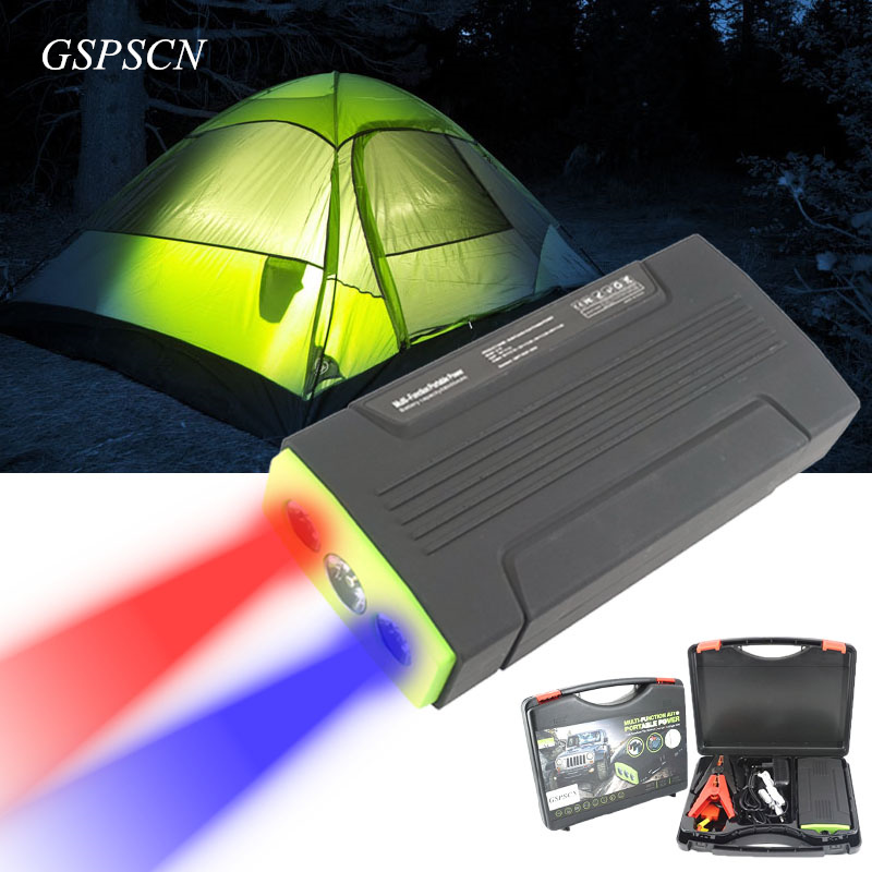 High Capacity 68000mA 12V Car Portable Mobile Jumper Booster Battery Charger 2USB Phone Laptops Battery Camping SOS Lights