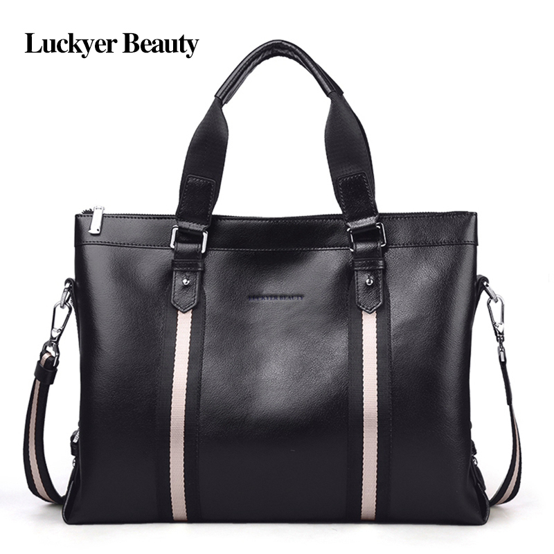 LUCKYER BEAUTY High Quality Men Shoulder Handbag Classic Business Briefcase Casual Handbags Men Simple Fashion Tote Male Bag LUCKYER BEAUTY High Quality Men Shoulder Handbag Classic Business Briefcase Casual Handbags Men Simple Fashion Tote Male Bag