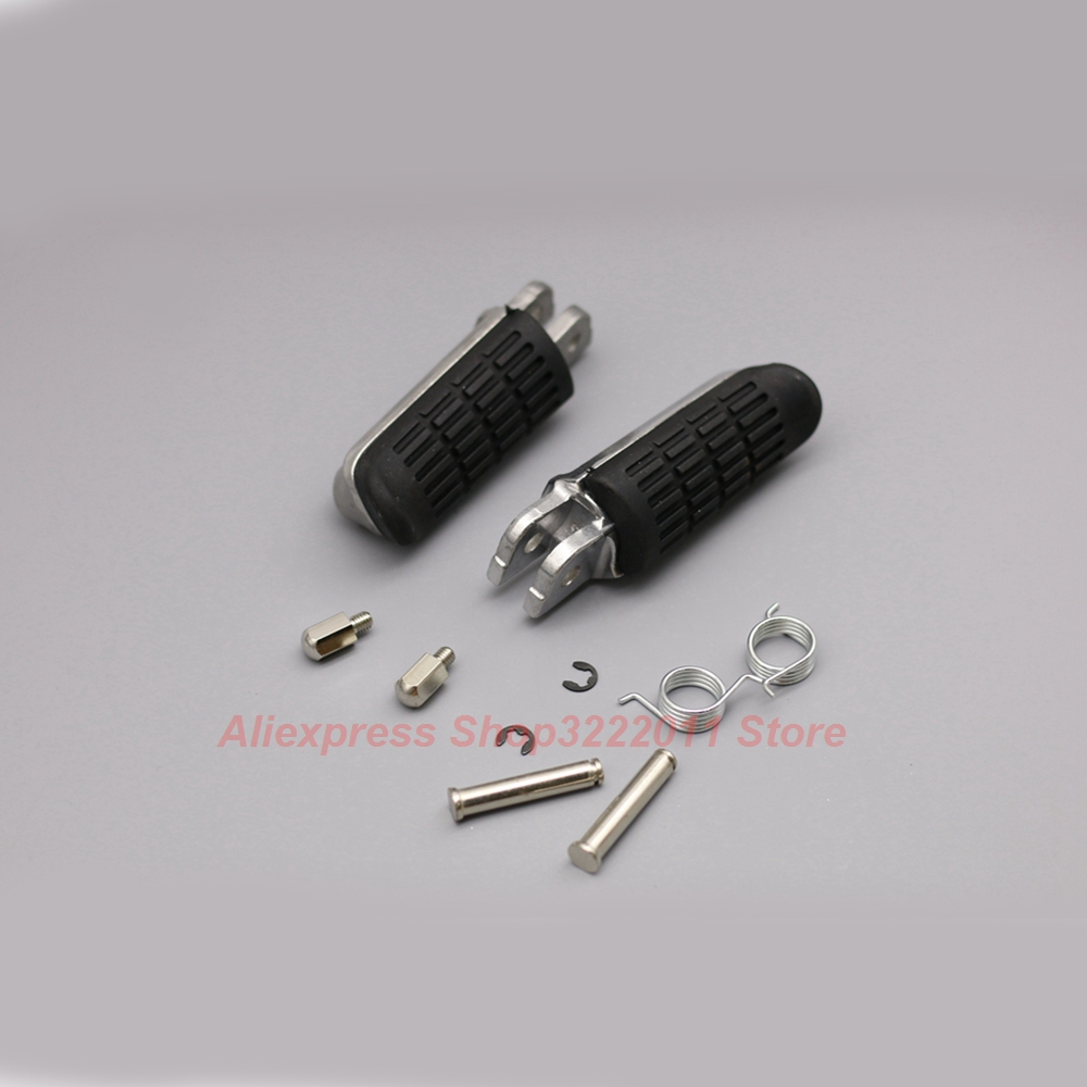 Motorcycle Aluminum Foot Pegs For Honda CBR750F CB750 / CB1300SF / CB1300X4 98-02 / CB1300 03-08 Rubber Footrest Pedals FootPegs