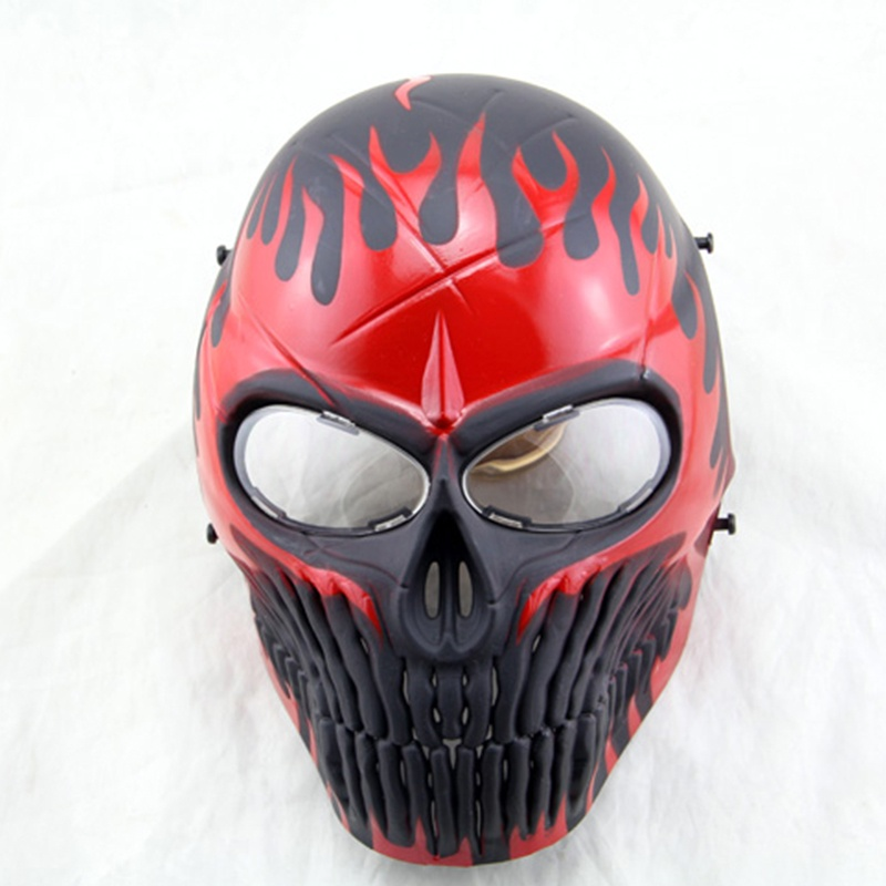 Airsoft Skull Full Face Paintball Mask Scary Horror Cosplay Halloween Mask Hunting Wargame Military Army Tactical Masks