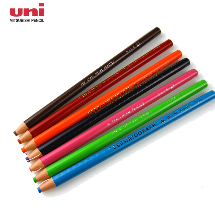 12 Pieces Uni 7600 Grease/Wax Pencil 12 Colors Available Metal/Leather/Stone/Glass Color Pencils 2018