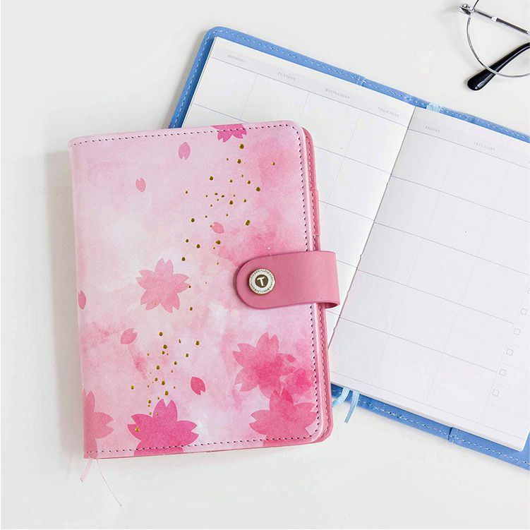 Cute Flower Design A6 Journal Planner Book Weekly+Monthly+Daily Page+Blank Paper PU Leather Diary Notebook Gift Free Shipping миллион котов раскрась обложку page 6