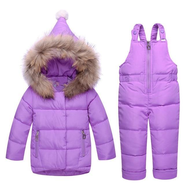441eff209e04 Russian Winter Warm Down Children Clothing Girls Winter Kids ...