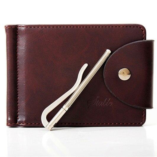 Mens Genuine Leather Wallet Thin Mini Pocket Jeans Men Wallets Brand Designer Money Clip Male Money Purse Carteira Masculina